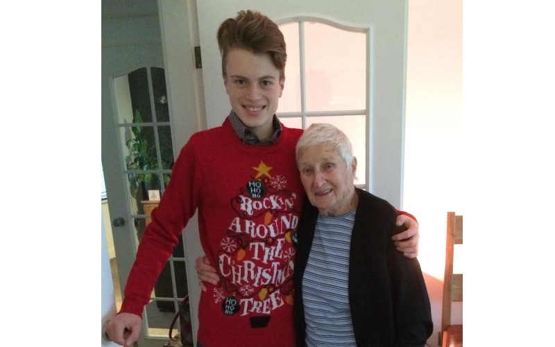 Miles and his great-gran