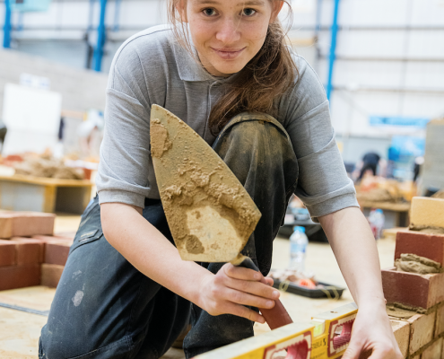 Bricklaying Apprentice Naomi Hamilton for National Apprentice Week Network She